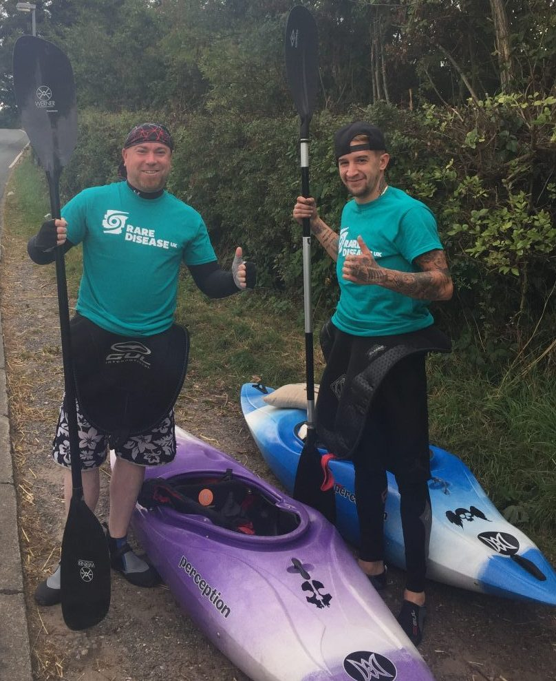 Daryl and Steve Kayak