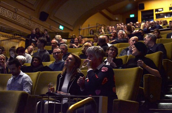 The guests taking their seats at the Regent Street Cinema.