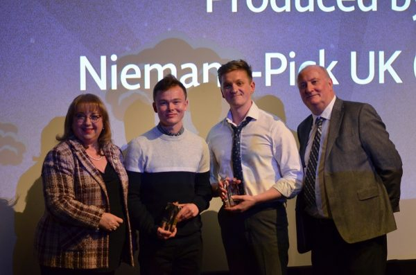 The winners of Best Charity Film and Best Picture,