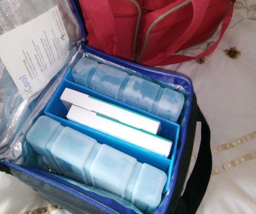 Pam's travel bag